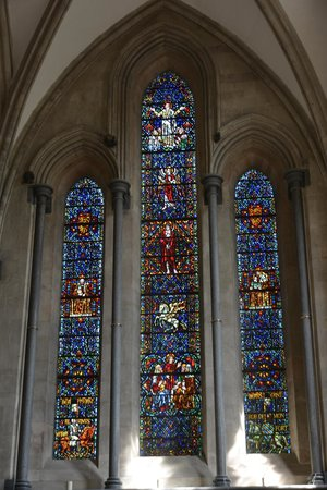 Temple Church: Colourful Stained Glass