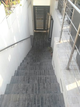 Dysart Boutique Hotel: Hotel exit/entrance stairs
