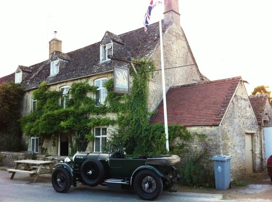 The perfect car for arriving at The Swan Inn