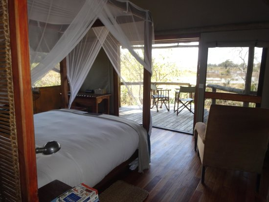 Wilderness Safaris Xigera Camp: The rooms have a fantastic view over the  waters