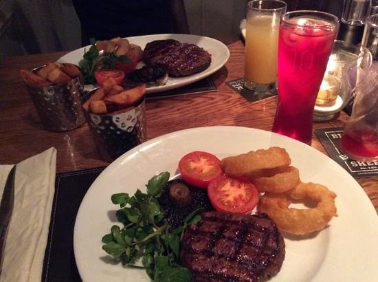 The Blacksmiths Arms: Rib eye and fillet steaks