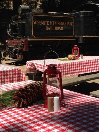 Yosemite Mountain Sugar Pine Railroad: The trackside lunch was so peaceful!