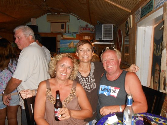 Margarita Villa: hubby and I and the bartender