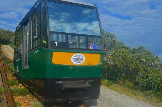 Cape Point Nature Reserve: ケーブルカーで登ります