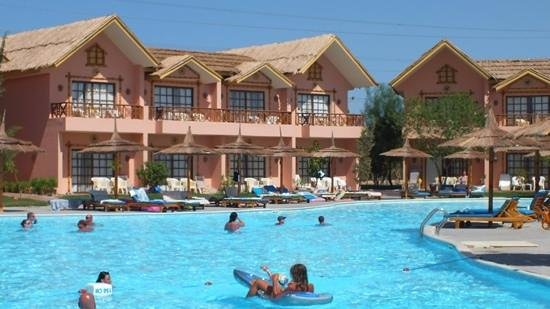 Jungle Aqua Park : view of our room from across the pool