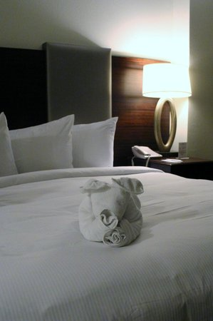 Hilton Grand Vacations on Paradise (Convention Center): Towel animal to greet us just like on the cruise ships!