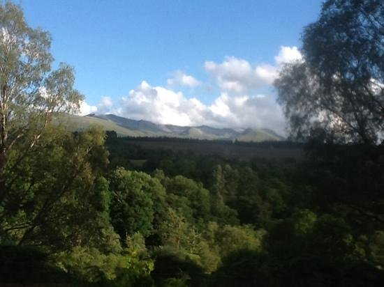 Corrieview Lodges: view from balcony