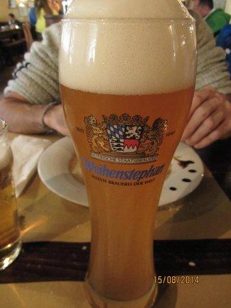 Osteria La Montanara: boccale di birra