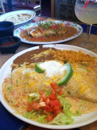 El Jimador: Seafood burrito & Jimador burrito....YUMMM