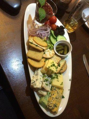 The Farmhouse Restaurant: A fine cheeseboard to finish