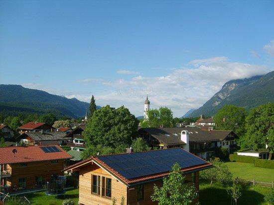 Staudacherhof: Zimmeraussicht auf Garmisch