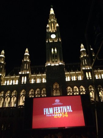 Rathaus: Rat has at night for 2014 Film Festival. Great experience.