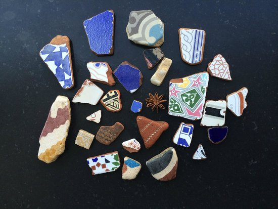 Agadir Beach: Beach-comb for the beautiful Moroccan tiles and potsherds