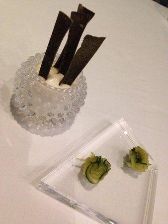 Restaurante Messina: Crujiente de alga nori con crema de arroz