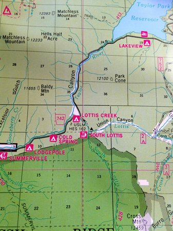 Lottis Creek Campground: Campground Location