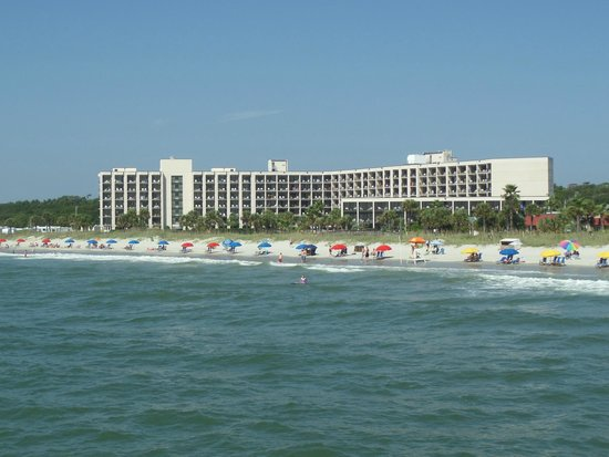 DoubleTree Resort by Hilton Myrtle Beach Oceanfront: view of Palmetto building from pier