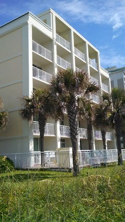 Best Western Plus Grand Strand Inn & Suites: view of hotel from beach
