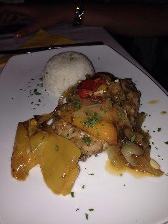 Agnadio: Pollo con peperoni
