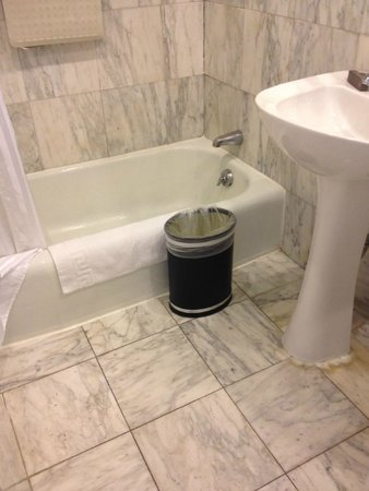 "Boston Hotel Buckminster: The tub was only about 12"" high."