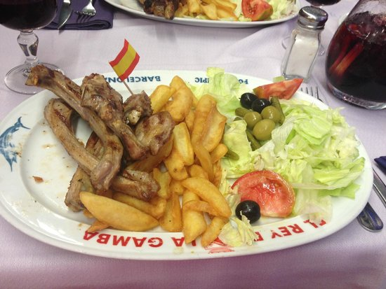 El Rey de la Gamba-2: Lamb chops yummy