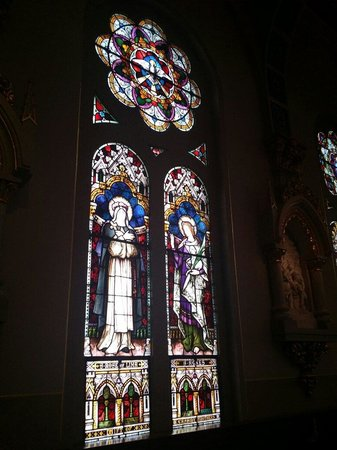 St. Joseph's Catholic Church: Stained glass window which was a Gift of the Cassidy Brothers