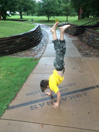 Fort Smith National Historic Site: State line between Indian Territory and Arkansas.