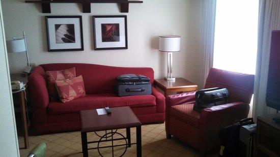 Residence Inn Charlotte SouthPark: living area