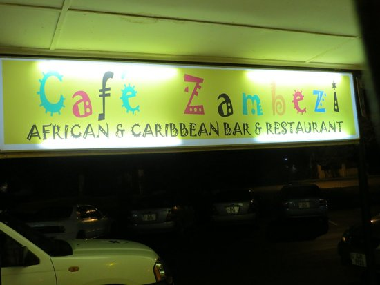 Cafe Zambezi: Exterior sign
