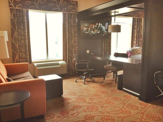 Hampton Inn & Suites Chattanooga / Downtown : Sitting area in suite