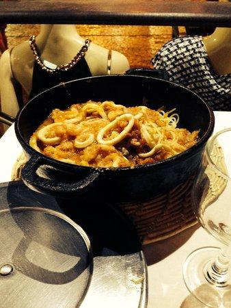 Costa Brava : spaghetti com frutos do mar!