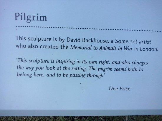 The Bishop's Palace and Gardens: Explicación relativa a la estatua del Pilgrim