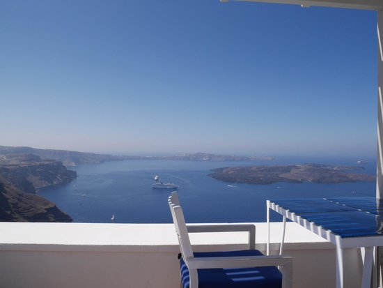 Iconic Santorini, a boutique cave hotel: view from the terrace