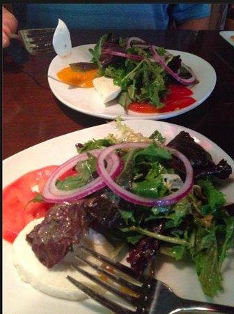 Magnolia's at the Mill: heirloom tomato salad