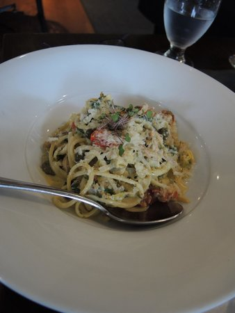 Simplicity Bistro: Linguine with trout and spinach