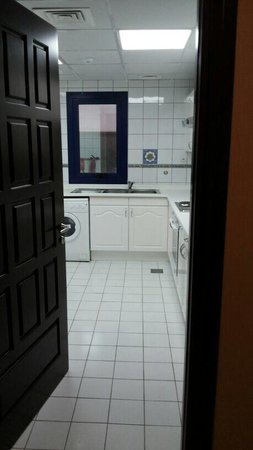 Oriental Hotel Apartments: A huge kitchen in 1BR