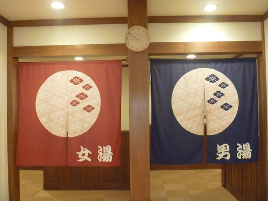 Fujiyama Onsen: 温泉入口の暖簾