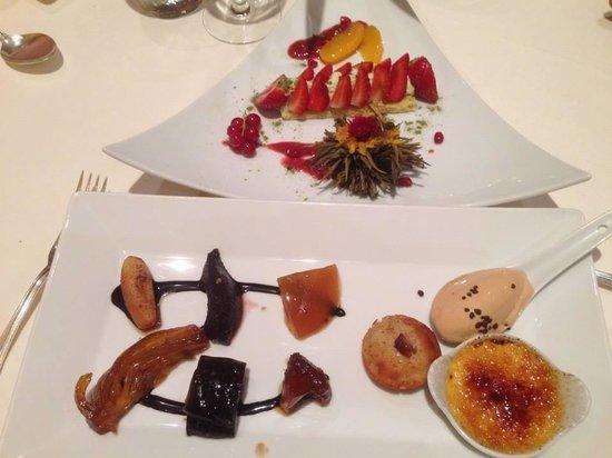 jean ramet : Sablé curry, fraises, mascarpone thé matcha et La route aux épices