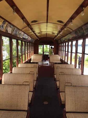 New York Trolley Museum: PA trolley interior