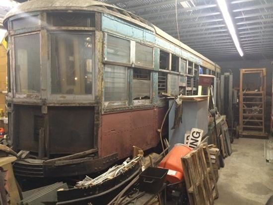 New York Trolley Museum: train shed