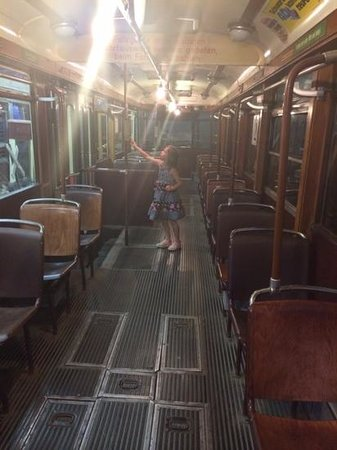 Trolley Museum Of New York: trolley interior