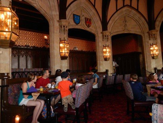 Cinderella's Royal Table: castle dining room