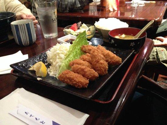 Dojima-Ann: Kaki furai teishoku (fried oyster set)