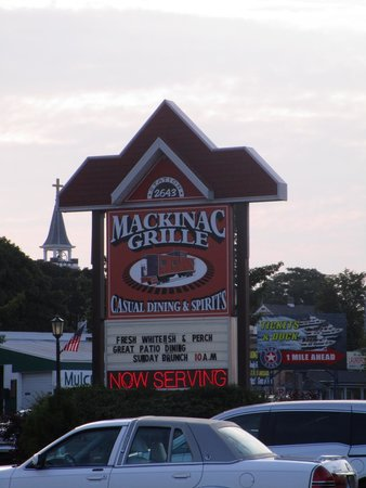 Mackinac Grille: From street