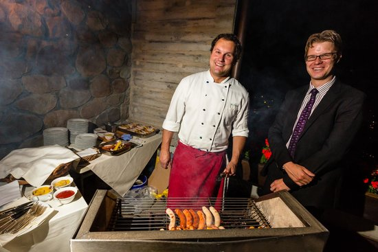Hotel Waldegg: Special services - sausage on the terrace