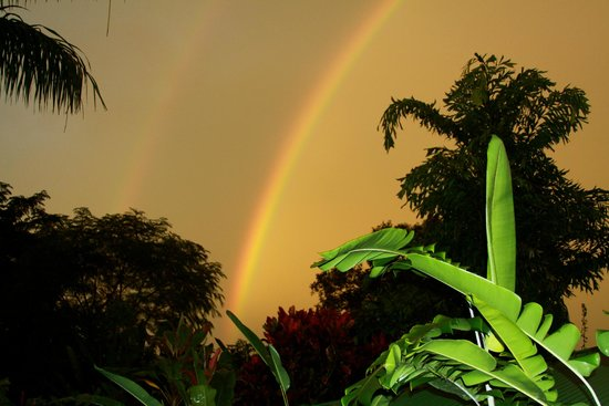 Nayara Springs: Double Rainbow from our room