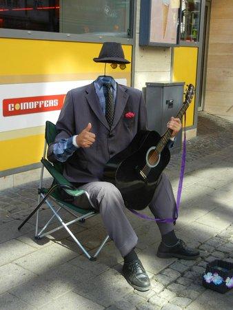 Strøget : Street performer.