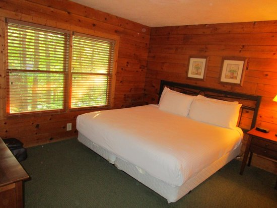 Shenandoah Crossing : Cabin bedroom with comfy bed
