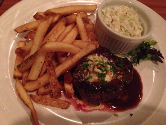 Cape Fear Seafood Company: Filet crowned with gorgonzola butter & cabernet demi glace