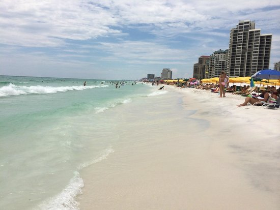 Hilton Sandestin Beach, Golf Resort & Spa : Amazing beach.  Right outside the hotel.  Wow.