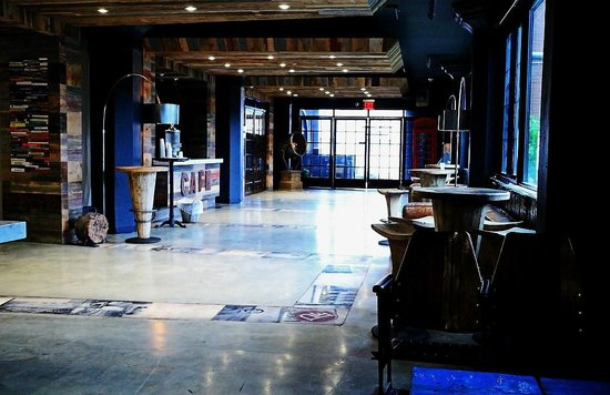 The Paper Factory Hotel: The cool lobby